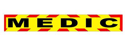 MEDIC Chevron Magnet Medic First Aid Nurse Doctor Sticker Search and Rescue