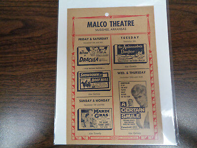 Malco Theatre Vintage Movie Ad Mcghee Arkansas The Return Of Dracula