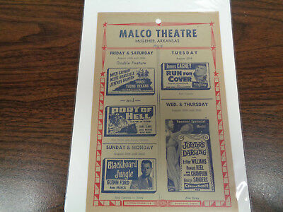 Malco Theatre Vintage Movie Ad Mcghee Arkansas Run For Cover/ Three Young Texans