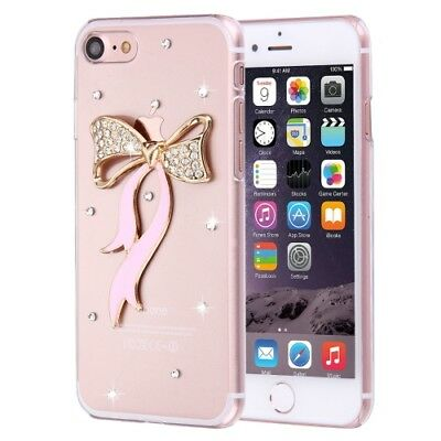 Pochette de protection iPhone 8 & 7 diamant noeud Pare-chocs pierres Strass