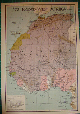 Sahara Karte.North Africa Morocco Sahara Gold Coast Original Antique Map