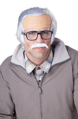 Brand New Rude Grandpa Old Man Costume Wig