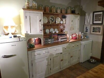 Rustic Large French Dresser - Solid Wood