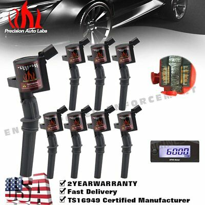 8x High Energy Ignition Coil Fit F150 250 4.6L 5.4L DG508 V8/10 Mercury Lincoln