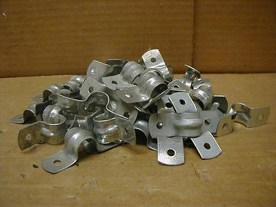 """1/2"""" / 12.7mm OD Tubing or Pipe 2 Hole Strap Clamps, Lot Of 50"""