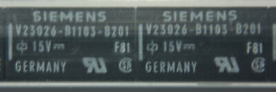 Lot of 40 Siemens V23026-B1103-B201 Latching 2 Coil Bistable 15VDC 1A Relays