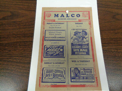 Malco Theatre Vintage Movie Ad Mcghee Arkansas Jack And The Beanstalk