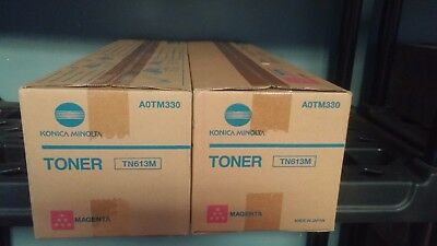 Konica Minolta TN613M Magenta Toner Cartridge A0TM330 C452 C552 C652 NEW