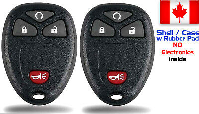 2x New Replacement Keyless Key Fob For Cadillac Chevrolet GMC Buick - Shell Only