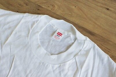 Vintage Hanes T-Shirt Blank USA Made NEW 100% Cotton White Crew Mens M 70's 80's