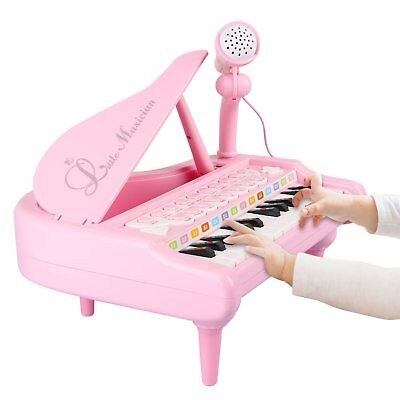 Toddler Toy for Girls Learning Educational Playset Musical Keyboard Piano Pink