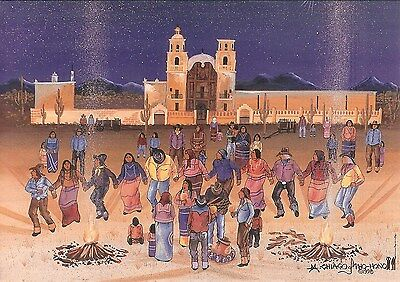 "12 Native American Notecards, ""Hohnvena Dance at San Xavier,"" by Michael Chiago"