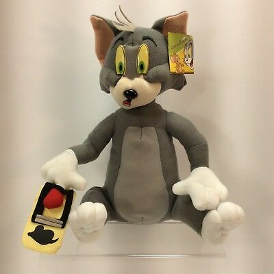 Tom and Jerry Cartoon Tom Cat Plush Finger N Mousetrap 60s Soft StuffedToy Funny