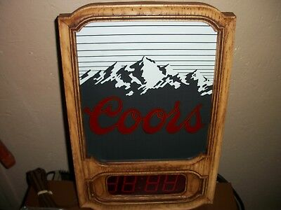 Nos Coors Digital Clocks Mint In The Box    Unopened    2 Clocks