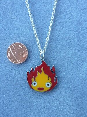 """Howl's Moving Castle Calcifer Charm Pendant Necklace 18"""" Birthday Gift #196"""