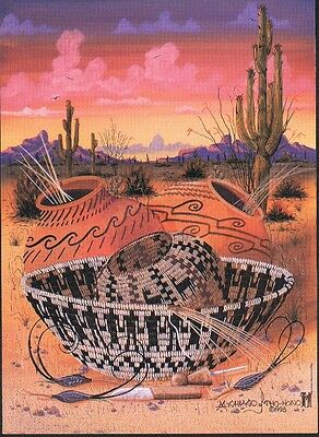 "12 Native American Notecards, ""Desert Still Life,"" by Michael Chiago"