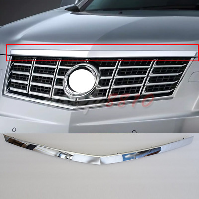 1pc For 2010-2016 Cadillac SRX Front Grille Hood Moulding Trim Chromed Strip
