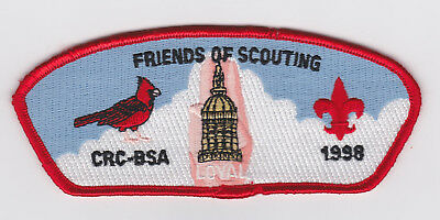 Usa Boy Scouts Of America - Bsa Friends Of Scouting Crc-Bsa 1998 Shoulder Patch