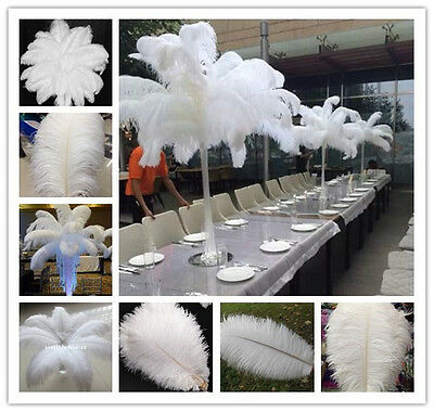 50-100pcs White Natural Ostrich Feathers 6-28 inch/15-70 cm carnival Diy costume