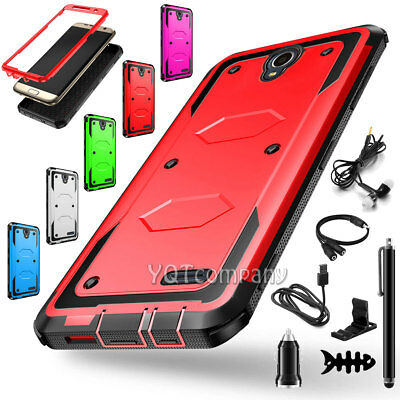 For ZTE Maven 3 / Overture 3 Hard Case Hybrid Shockproof Cover With Accessories