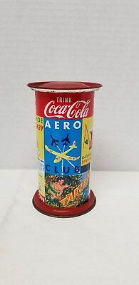 Coca-Cola Tin Bank Nostalgia West German Advertising tin baby car aero club