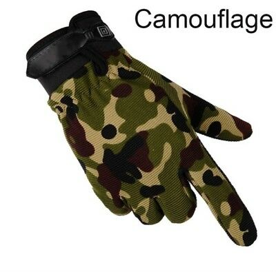 Camouflage Gloves - Men Sports Fashion Camouflage Airsoft Full-Finger Gloves