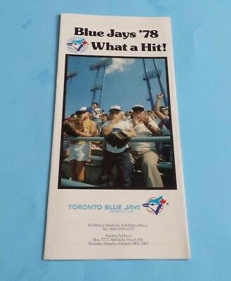 1978 MLB Toronto Blue Jays Ticket Brochure and Schedule
