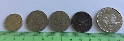 Papua New Guinea coin selection X5