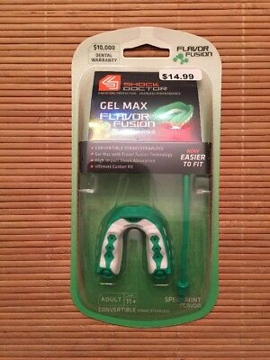 Shock Doctor Gel Max Flavor Fusion Adult Mouthguard Convertible - Spearmint