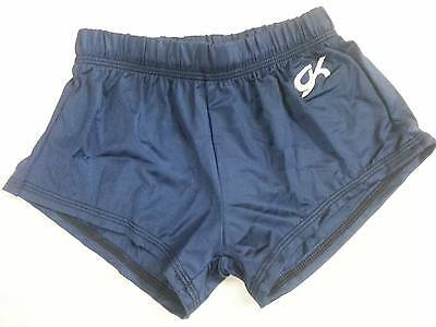 Gk Boys And Mens Gymnastic Shorts - Navy Blue - Size Child Small- Adult Large
