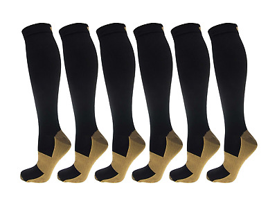 Copper 20-30mmhg Compression Support Socks Calf Graduated Miracle Men's Women's