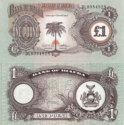 BIAFRA £1 Pound UNC Banknote - Country Does not Exist Anymore !!