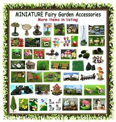 MINIATURE fairy garden dollhouse accessories - POSTAGE $8.50 CAPPED - mini