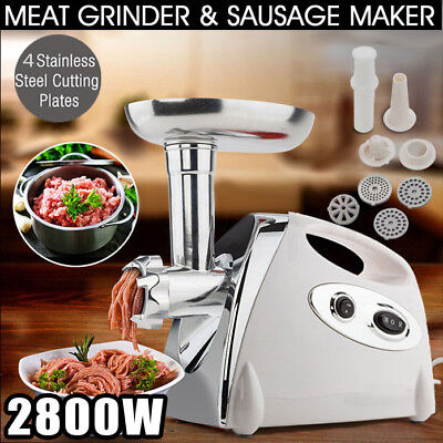 COMMERCIAL/HOME ELECTRIC MEAT GRINDER / MINCER Sausage filler Maker 2800W POWER