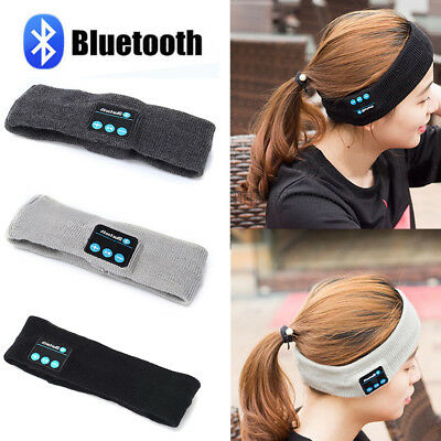 Bluetooth Wireless Sports Headband Headphones Run Gym Sleep Music Headset Mic UK