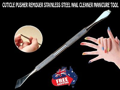 New Nail Cuticle Pusher Remover Stainless Steel Nail Cleaner Manicure Tool