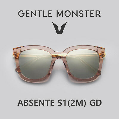41db523cdede 2018 NEW GENTLE MONSTER Authentic Sunglasses ABSENTE S1(2M) GD ...