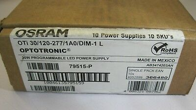 New OSRAM OPTOTRONIC OTi30/120-277/1A0 LED Dimmable Programmable Power Supply