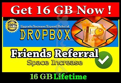 Provide you permanent 16 GB dropbox storage [ Limited Offer ]