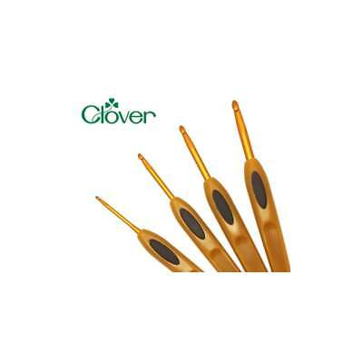 Clover Soft Touch Crochet Hooks Sizes 3mm to 6mm