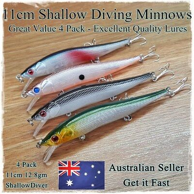 11cm Trout Fishing Lure Cod Bass Redfin Bream Flathead Tailor Salmon Barra Jacks