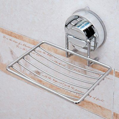 Stainless Steel Wall-mounted with Strong Vacuum Suction Cup Soap Dish Holder S1