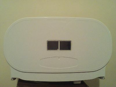 Twin Coreless Commercial Tissue/Toilet Roll Dispenser With Lock Free Postage