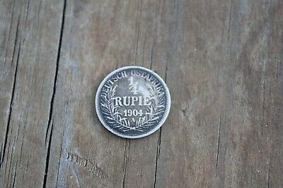 German East Africa 1/4 Rupee silver coin