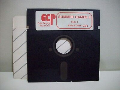 Ecp - Summer Games Ii  Commodore 64  /128 Game Floppy Disc Vintage Collectable