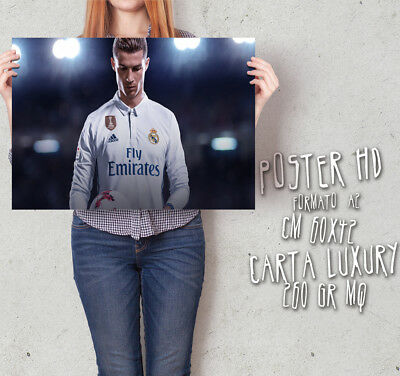 Poster su carta 260 gr HD varie misure CR7 Real Madrid Cristiano Ronaldo AL065