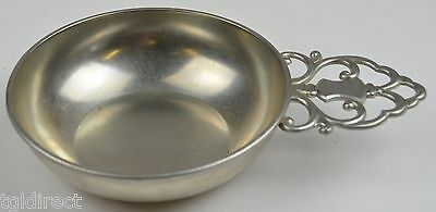 "Vintage Royal Holland Pewter Nappy KMD Tiel 6.125"" Round Nut Dish Bowl Decor"