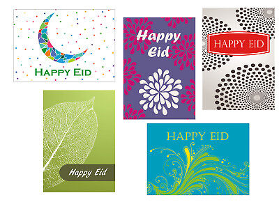 Contermporary Happy Eid Greeting Cards Pack