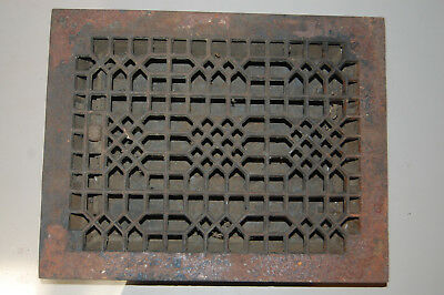 "Cast Iron Floor Register Heat Grate  With Louvers 10 7/8"" X 13 3/4"""