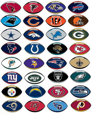 NFL Football Sticker / Aufkleber - American Football - Alle Teams - Patriots ...